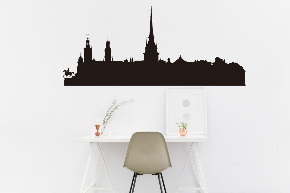 Vinilo decorativo del skyline de Estocolmo