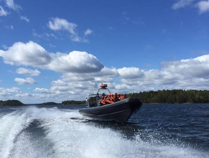 En lancha RIB por el archipiélago de Estocolmo <br> Foto: SeaSafari / facebook