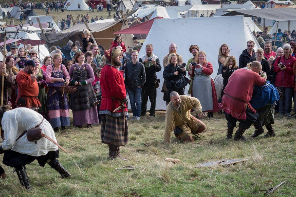 Días vikingos en Gudahagen, Escania <br> Foto: gudahagen.se