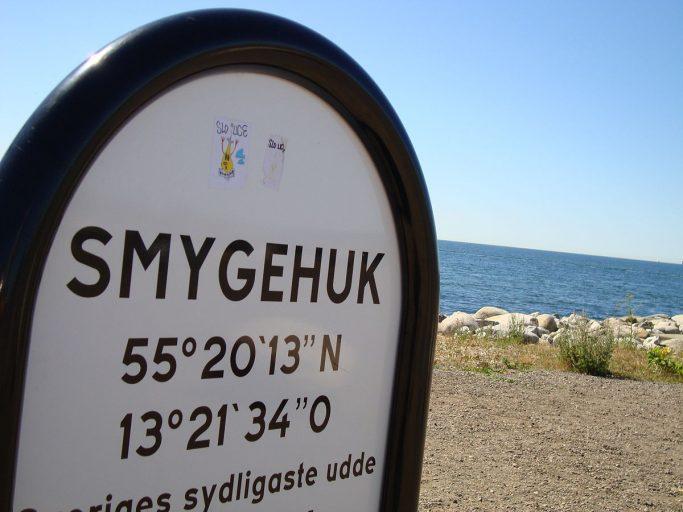 Smygehuk, el lugar más meridional de Suecia