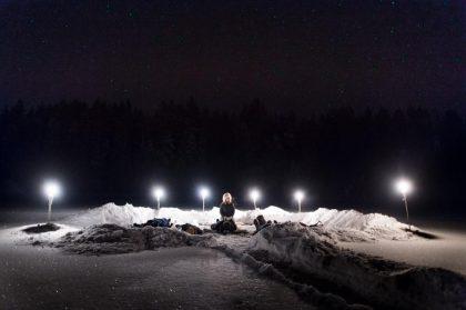 Relajación en el ártico en la Laponia sueca Foto: Facebook / Active North