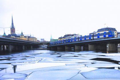 El tunnelbana o metro de Estocolmo de camino a Gamla Stan Foto: Israel Ubeda / sweetsweden.com