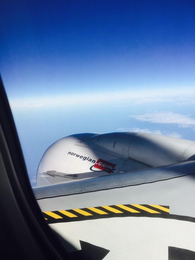 Avión de Norwegian en el aire - Foto: Israel Úbeda / sweetsweden.com