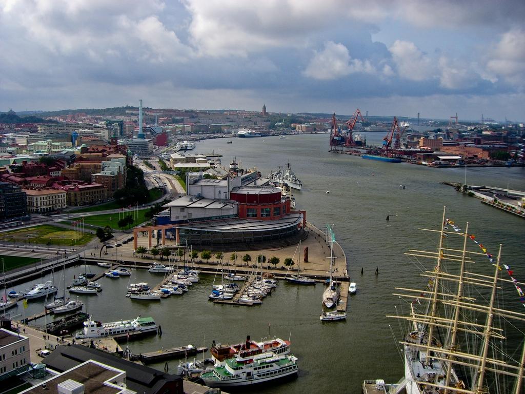 Panorámica de Gotemburgo desde el edificio Skanska <br> Foto: Israel Úbeda / sweetsweden.com