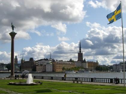 La isla de Riddarholmen desde el Ayuntamiento de Estocolmo