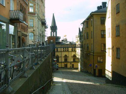 Calle de Bellmansgatan en Södermalm de la ruta Millennium en Estocolmo Foto: Israel Úbeda / sweetsweden.comq