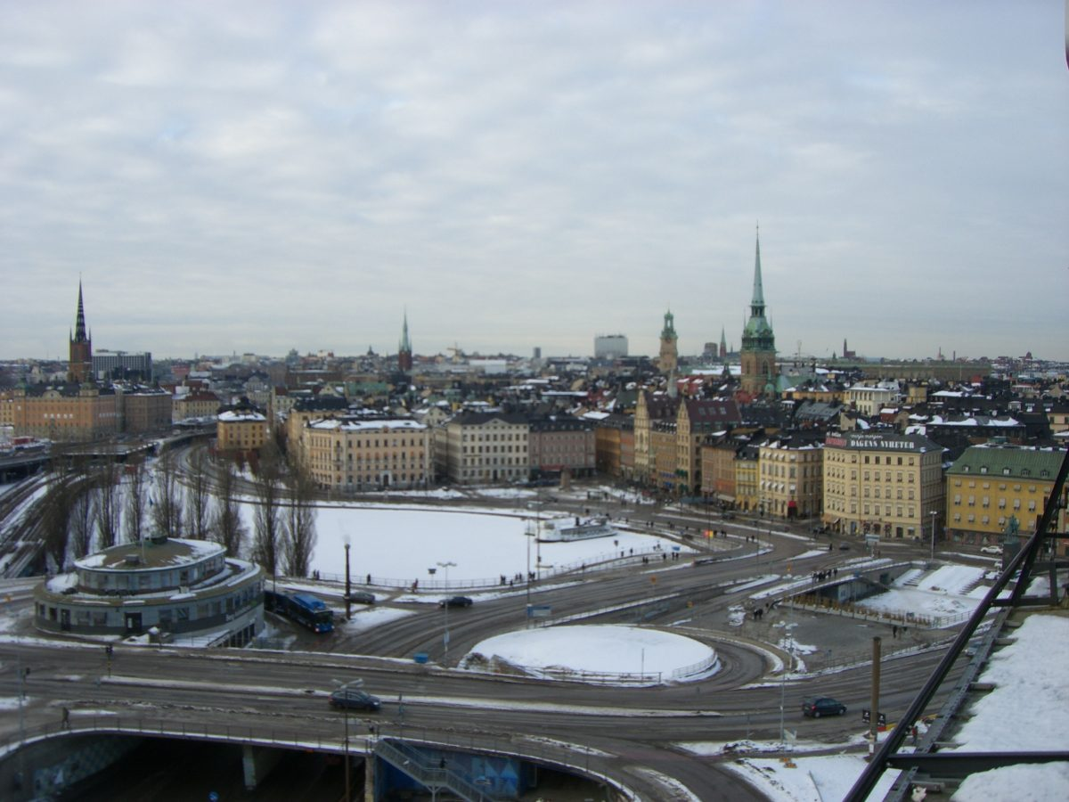Vistas de Gamla Stan y Slussen desde Katarinahissen, Estocolmo <br> Foto: Israel Úbeda/sweetsweden.com