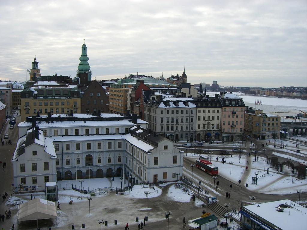 Vista del Museo de la Ciudad de Estocolmo en Slussen desde Katarinahissen<br>Foto: Israel Úbeda / sweetsweden.com