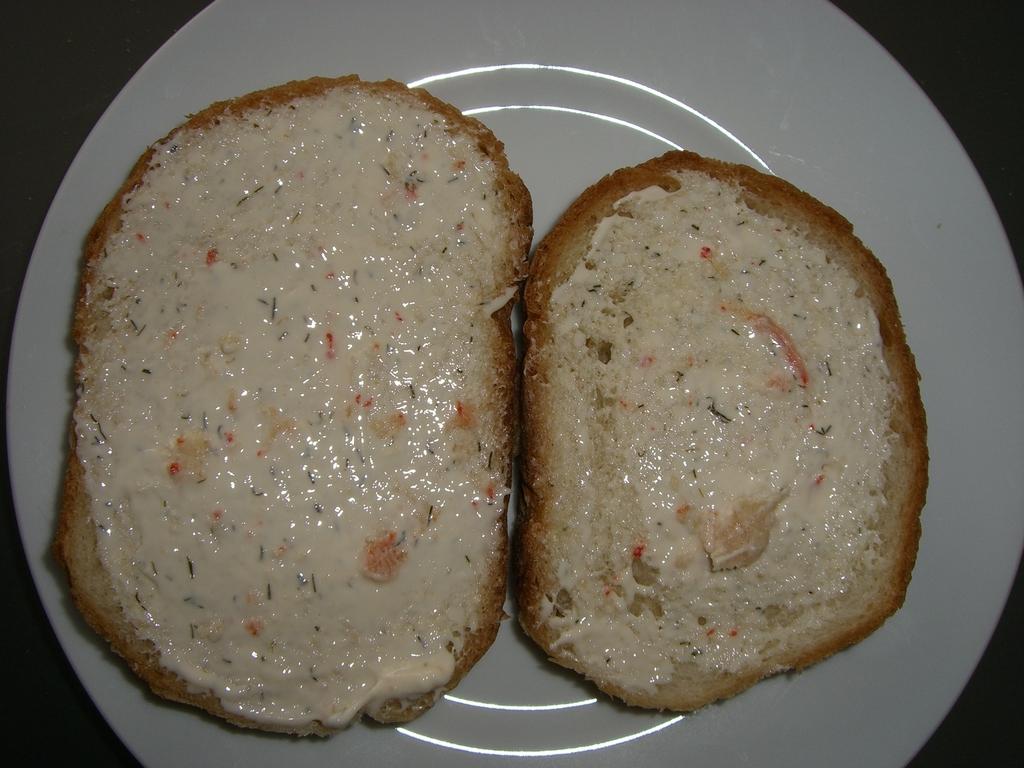 Pan untado con queso de cangrejo