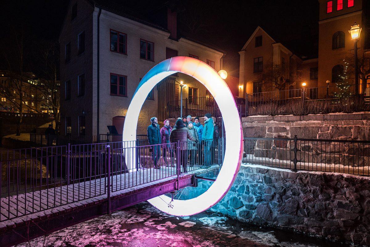 Instalaciones de luz en Norrköping durante el Light Festival <br> Foto: Mattias Lindh