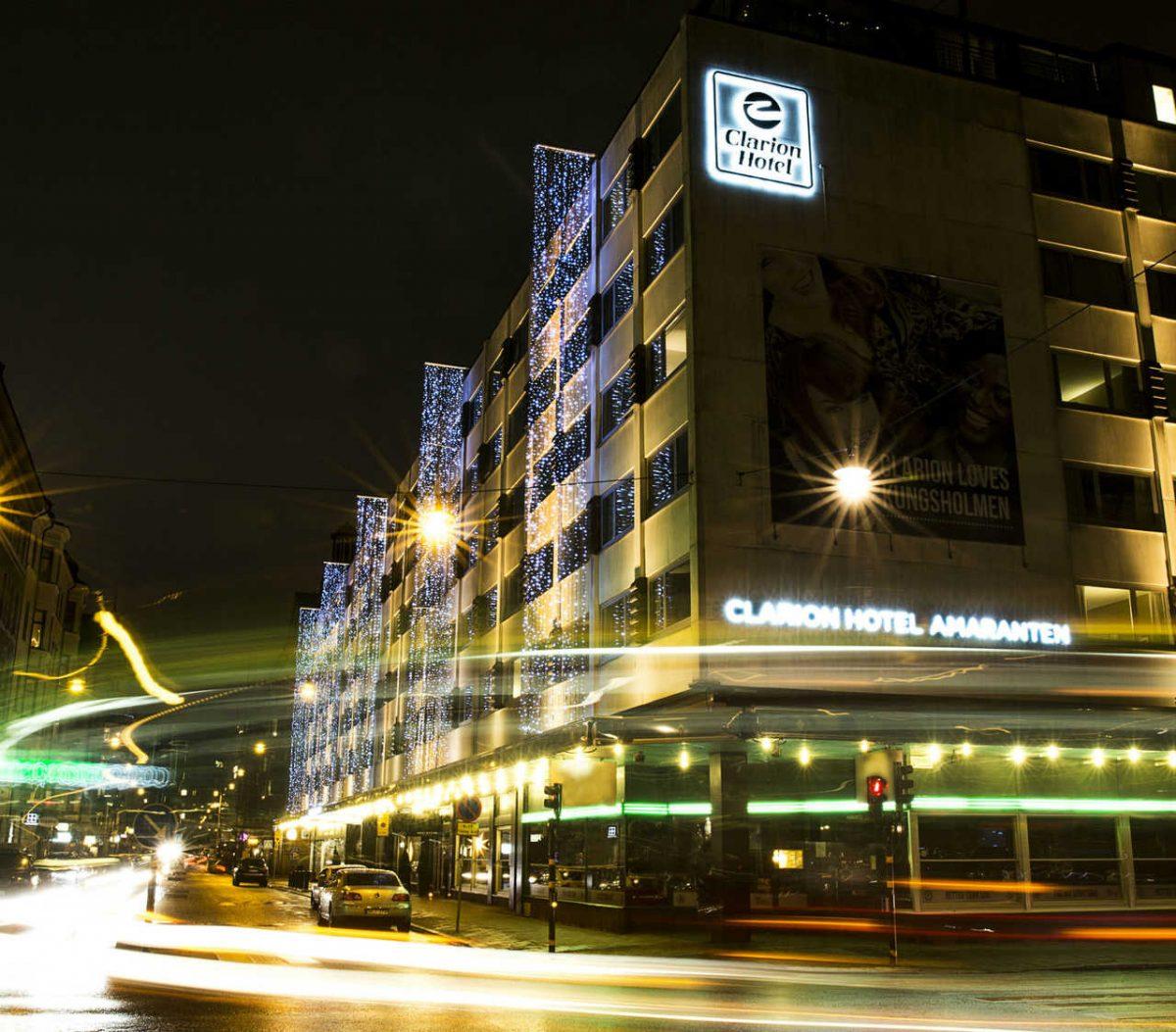 Exterior del Clarion Hotel Amaranten en Estocolmo