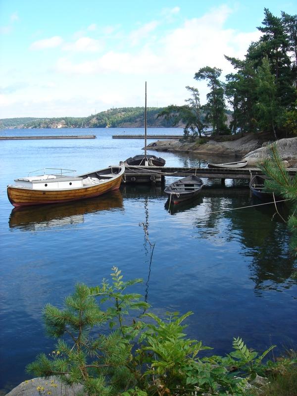 Embarcadero en la isla Stora Fjäderholmen <br> Foto: Israel Úbeda / sweetsweden.com