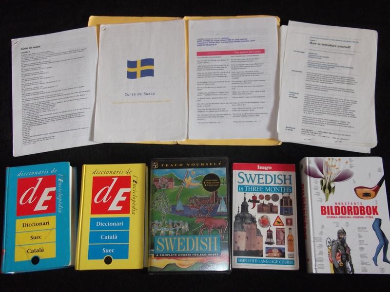 Mi colección de libros para aprender sueco <br>Foto: Israel Úbeda / sweetsweden.com
