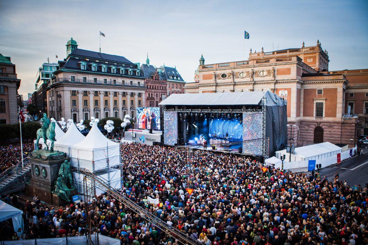 Concierto de Mando Diao durante el Kulturfestivalen de Estocolmo <br> Foto: Pauline Suzor