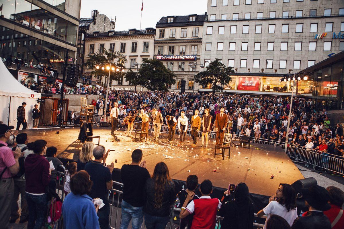 Festival de la cultura de Estocolmo en la plaza Sergels torg <br> Foto: Beata Holmgren