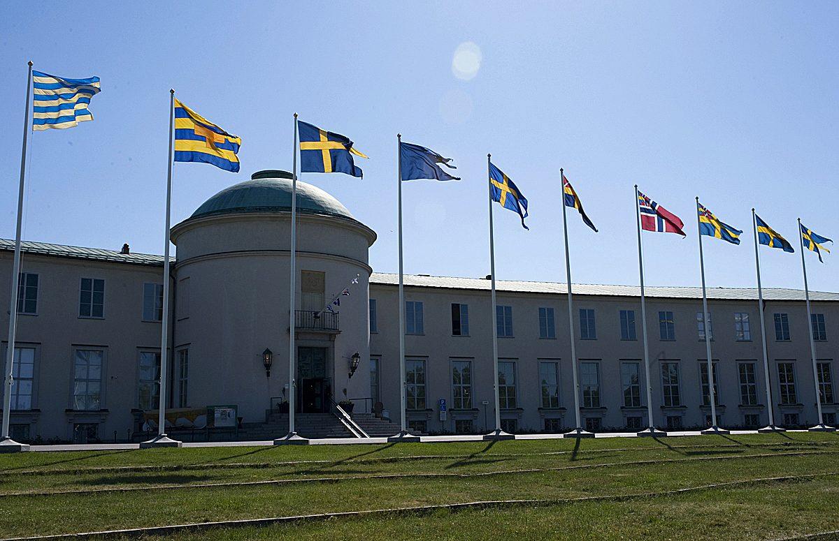 Banderas izadas en el Museo Marítimo de Estocolmo <br> Foto: Anneli Karlsson / SMM