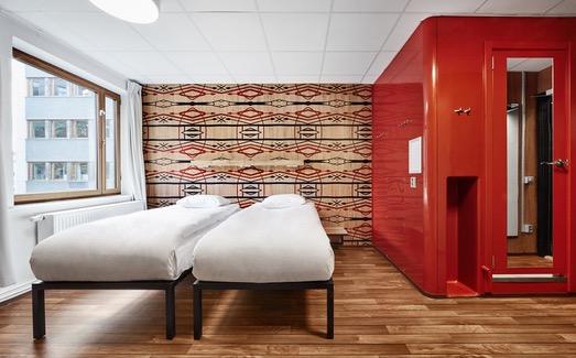 Habitación twin or double en el Generator Stockholm <br> Foto: Generatorhostels.com