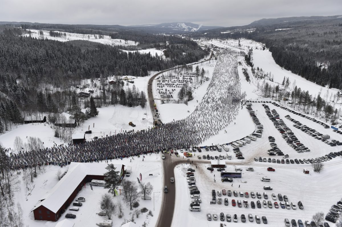 Start of Vasaloppet ski race in Sälen, Sweden <br /> Photo: Vasaloppet/Niss Schmidt