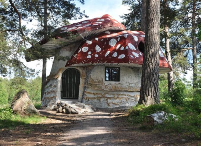 Habitación seta en el hotel de los trolls en Suecia - Foto: Norrqvarn