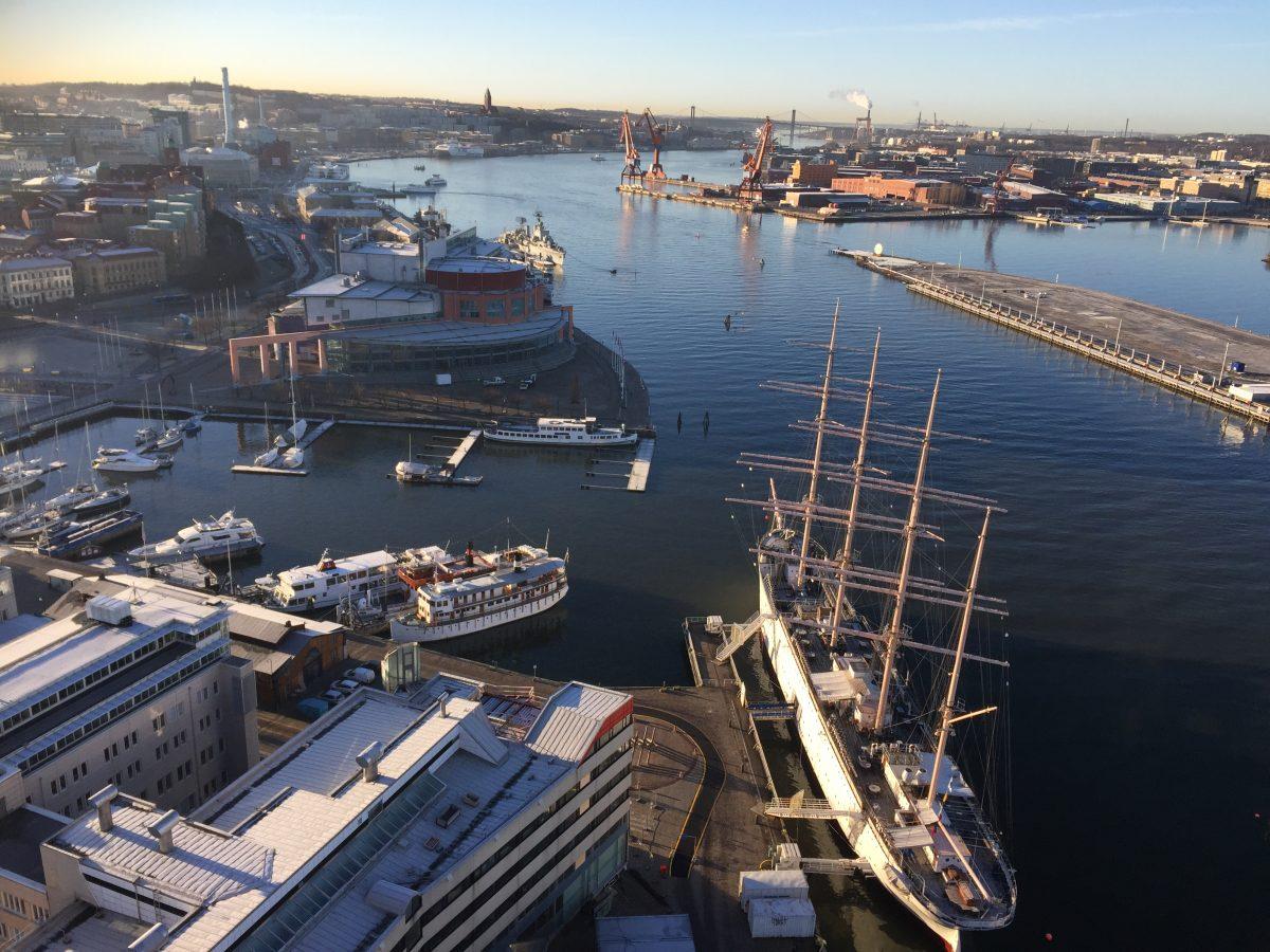 Vista desde lo alto de Lilla Bommen <br> Foto: Israel Úbeda / sweetsweden.com