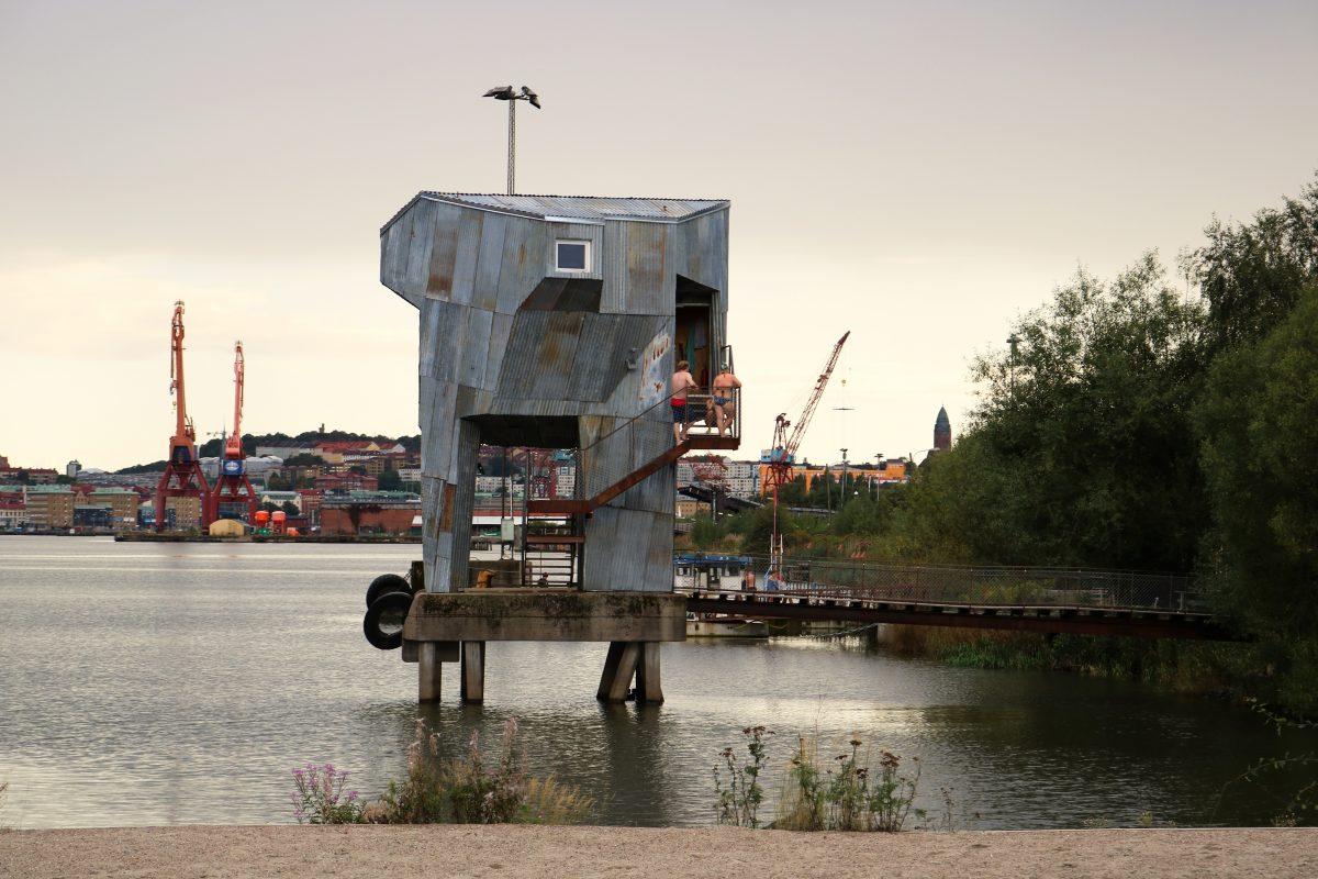 La sauna pública de Frihamnen en Gotemburgo <br> Foto: Israel Úbeda / sweetsweden.com