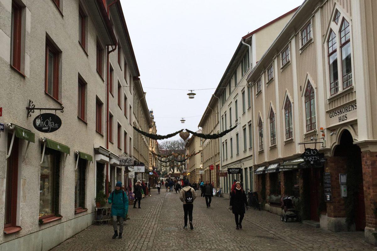 Paseando por Haganygatan en Gotemburgo <br> Foto: Israel Úbeda / sweetsweden.com