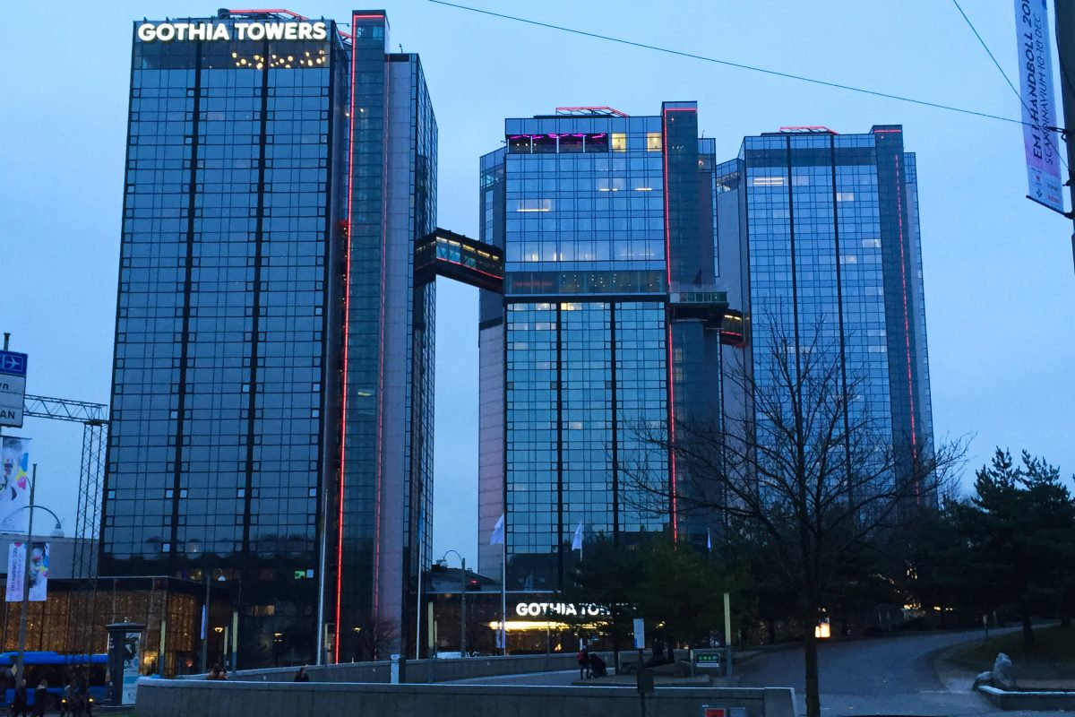 Gothia Towers a 4-star hotel in Gothenburg <br /> Photo: Israel Úbeda / sweetsweden.com