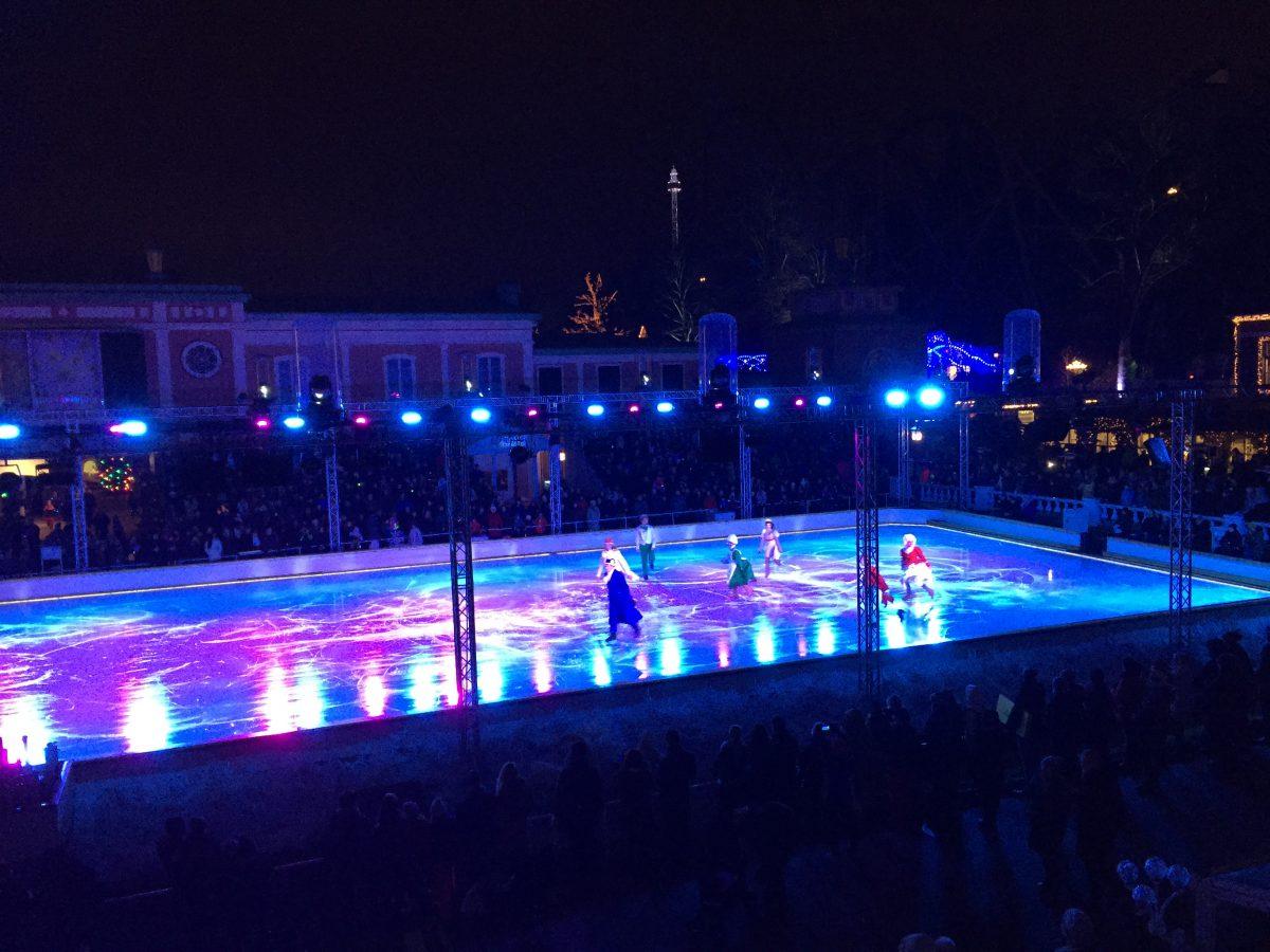 Función de teatro en patines en Liseberg, Gotemburgo <br> Foto: Israel Úbeda / sweetsweden.com