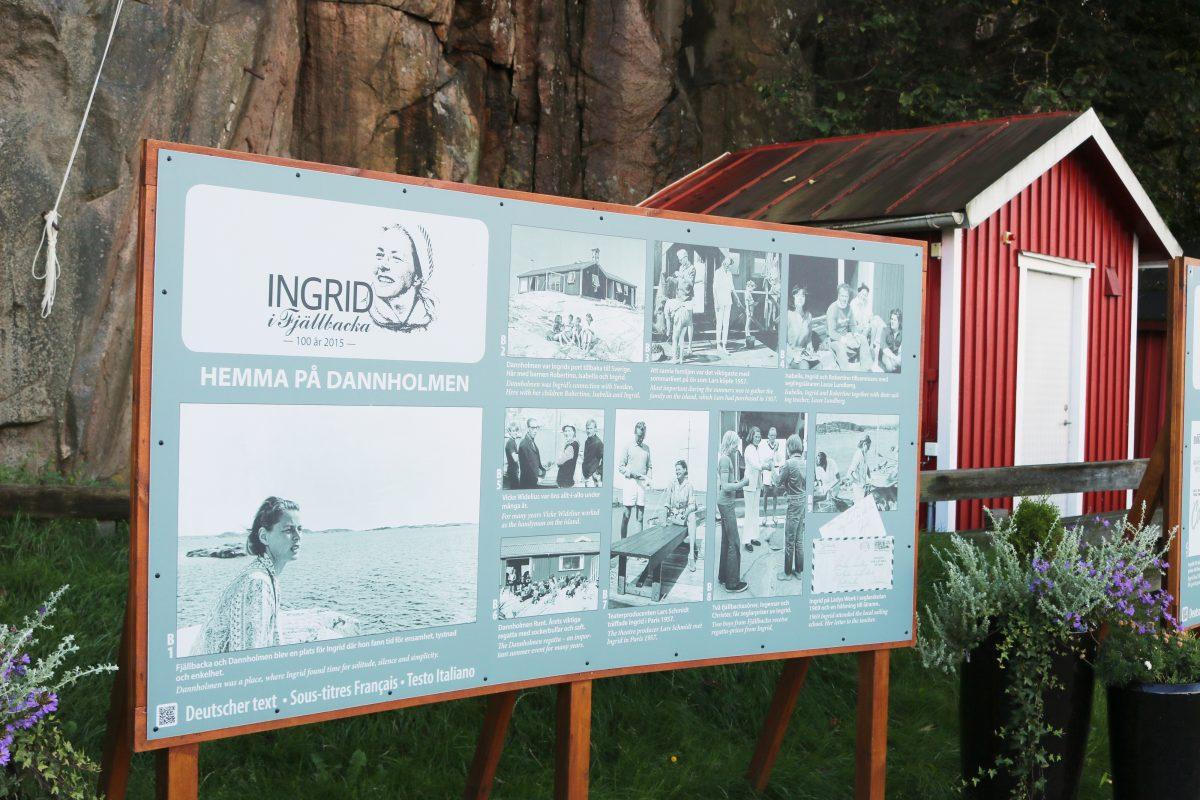 Recordatorio a Ingrid Bergman en Fjällbacka <br> Foto: Israel Úbeda / sweetsweden.com