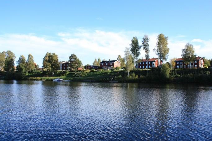 Casas en Skellefteå junto al río Skellefteälv