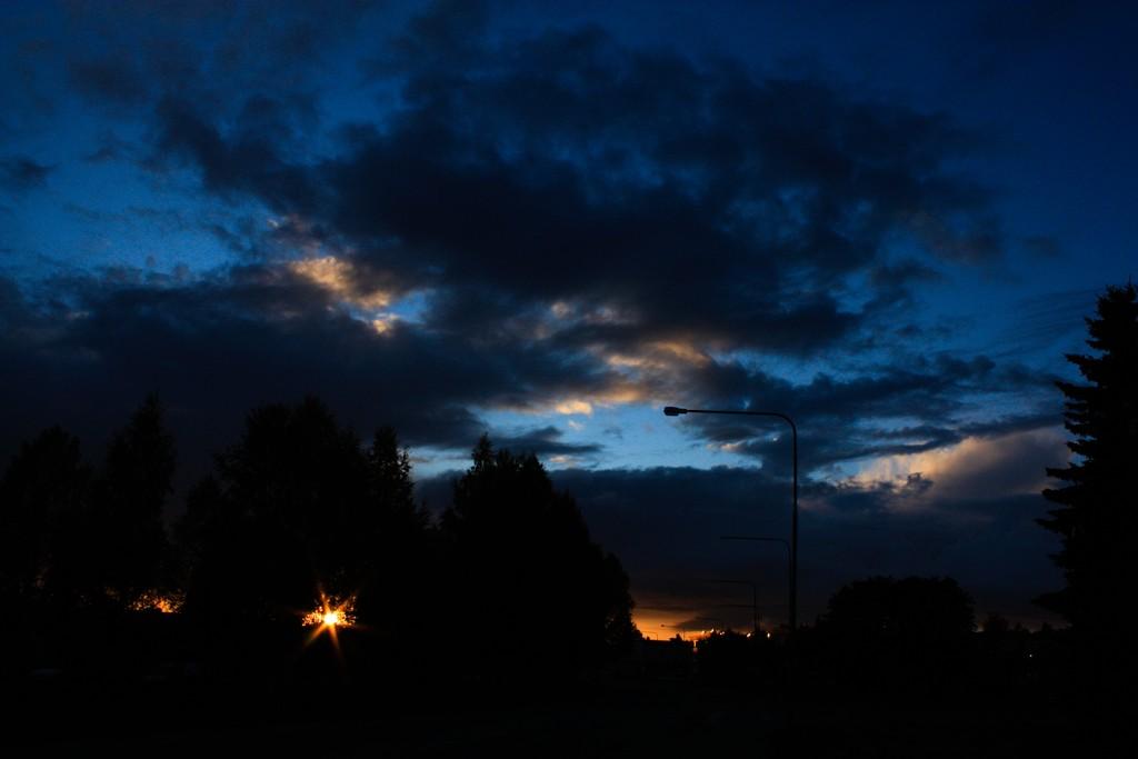 Puesta de sol lapona en Skellefteå <br> Foto: Israel Úbeda /sweetsweden.com