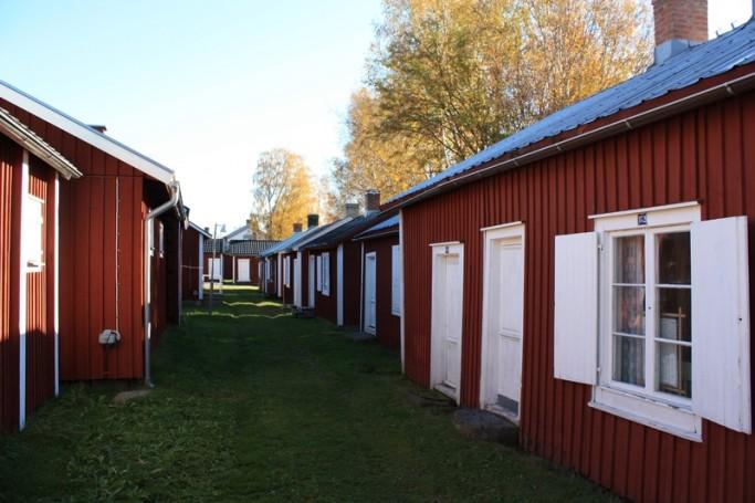 Casas rojas suecas en Gammelstad <br> Foto: Israel Ubeda / sweetsweden.com