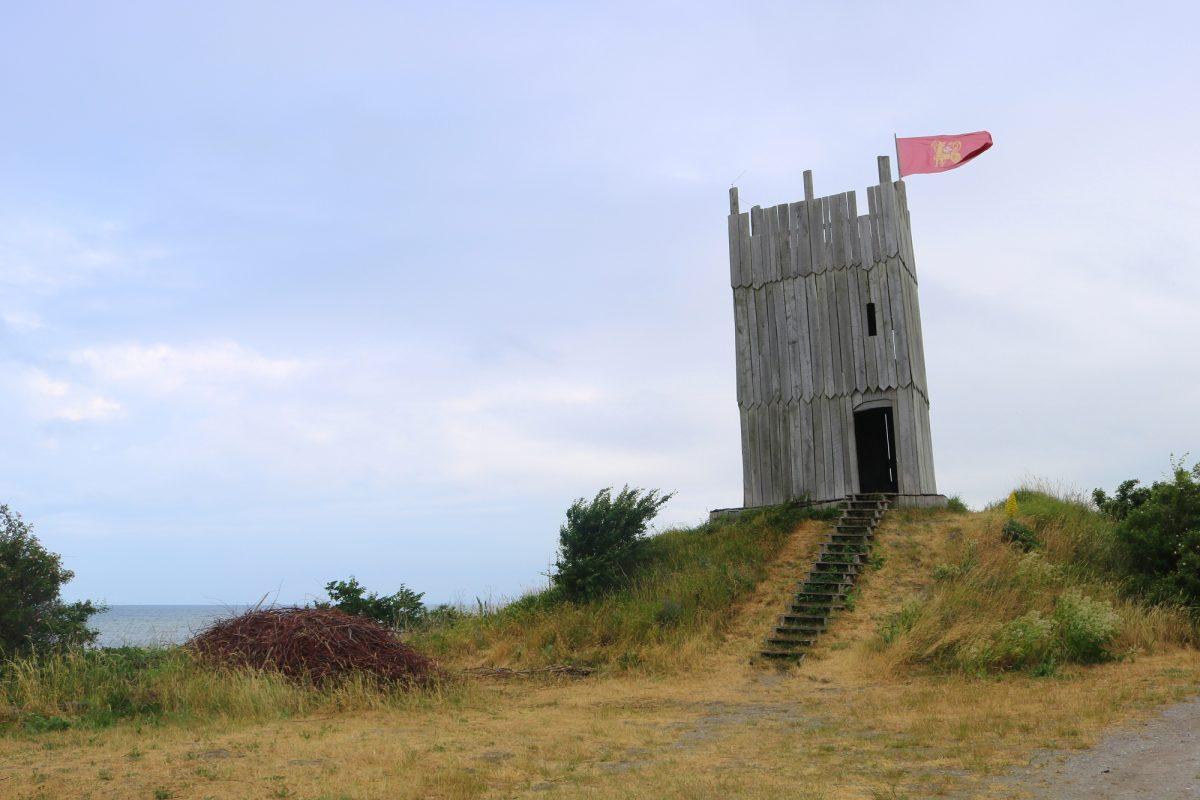 La torre de Foteviken <br> Foto: Israel Úbeda / sweetsweden.com