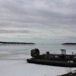 Aerodeslizador en el lago Vänern, foto: Israel Úbeda/sweetsweden.com