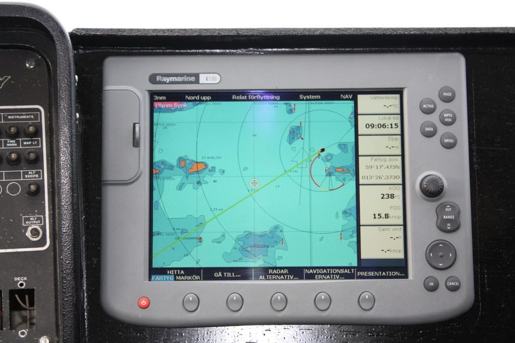 Sistema de navegación del aerodeslizador, foto: Israel Úbeda/sweetsweden.com