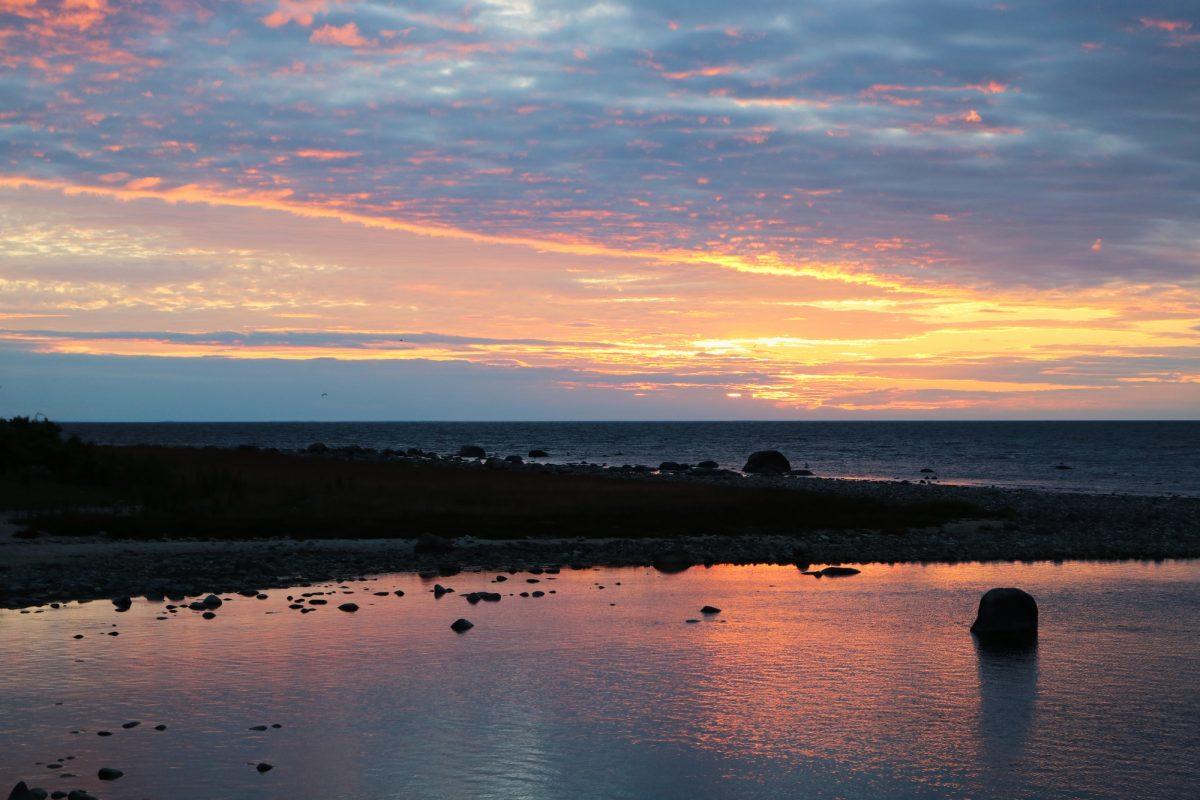 Puesta de sol desde el norte de Öland <br> Foto: Israel Úbeda / sweetsweden.com