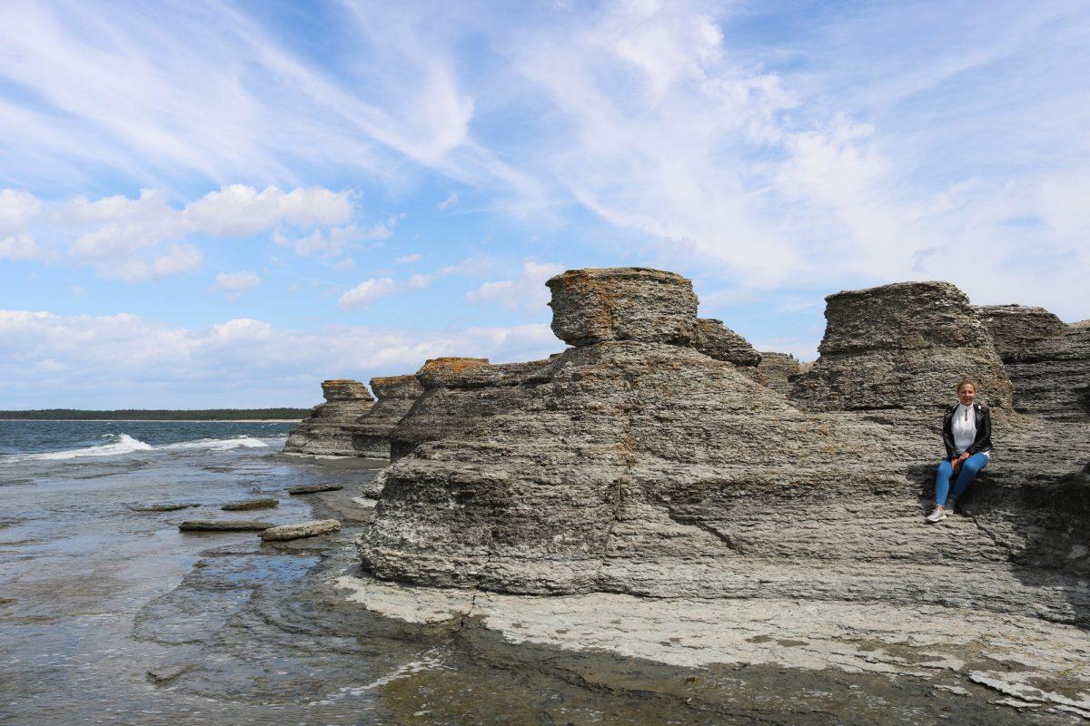 Raukar de Byrum en la isla de Öland <br> Foto: Israel Úbeda / sweetsweden.com