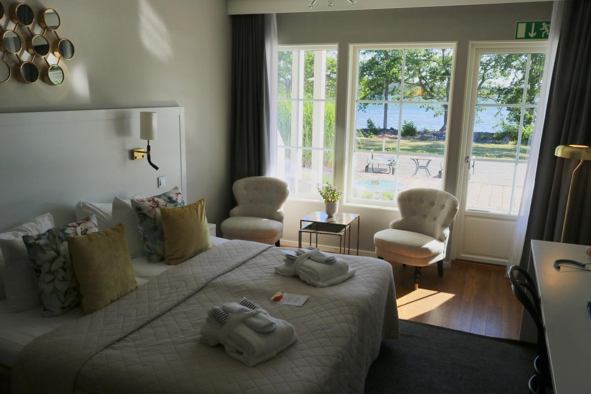 Habitación en Gränsö Slott <br> Foto: Israel Úbeda / sweetsweden.com