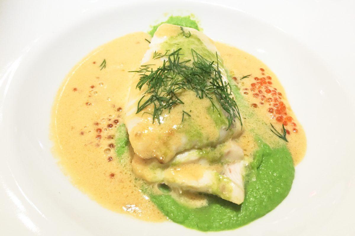 Cena a base de pescado en Marstrands Havshotell <br> Foto: Israel Ubeda / sweetsweden.com