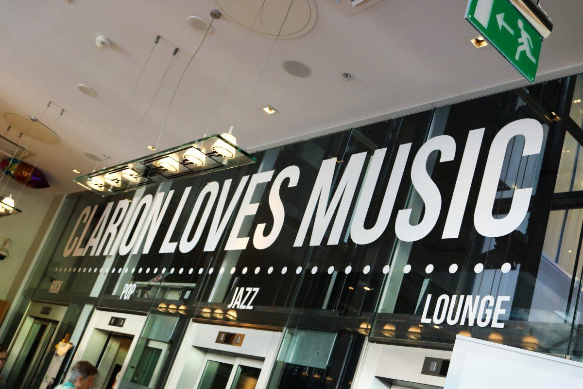 La música omnipresente en el Hotel Clarion Sign <br> Foto: Israel Úbeda / sweetsweden.com