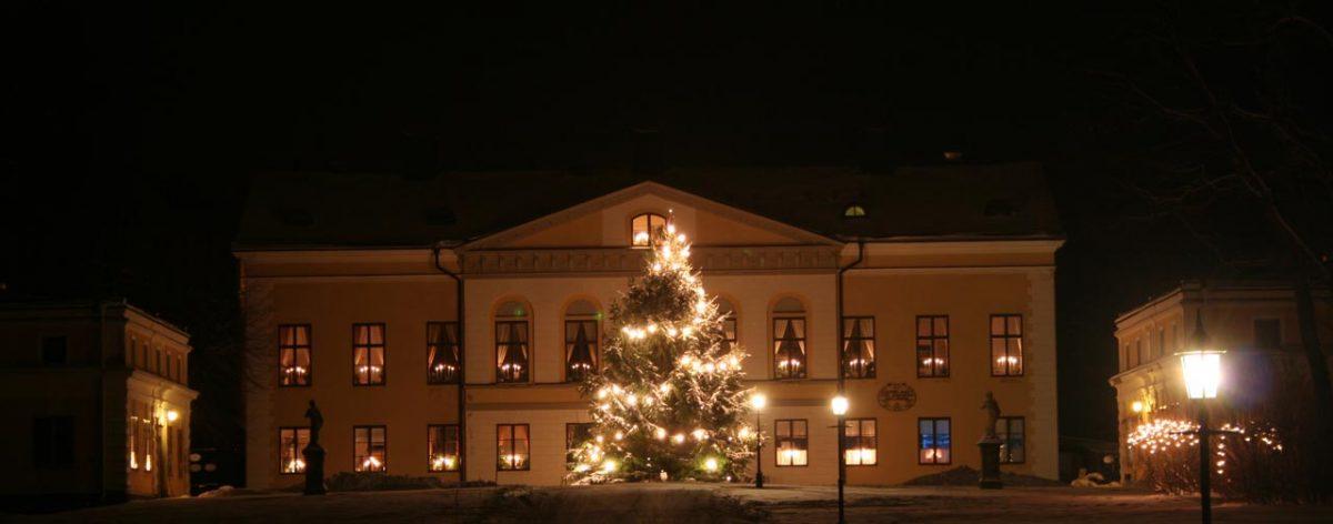 Palacio de Taxinge al oeste de Estocolmo en Navidad <br> Foto: taxingeslott.se