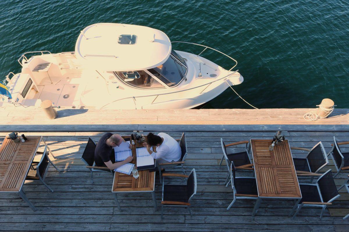 Cenas junto al mar en Salt o Sill <br> Foto: Israel Úbeda / sweetsweden.com