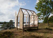 Una de las cinco cabañas de cristal de la campaña 72-Hour Cabin de Suecia Foto: Maja Flink