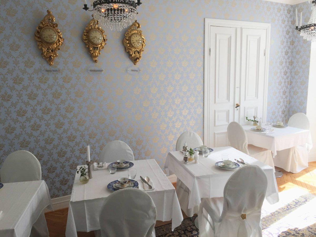 Sala interior de desayuno en Annas Hotell <br> Foto: Israel Úbeda / sweetsweden.com