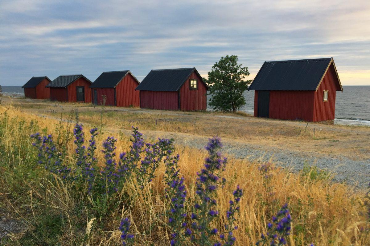 Cabañas en la costa norte de Öland <br> Foto: Israel Úbeda / sweetsweden.com