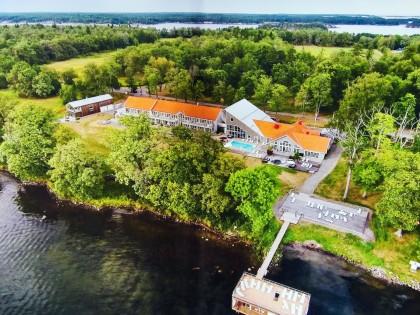Vista aerea del hotel spa Gränsö Slott en Västervik