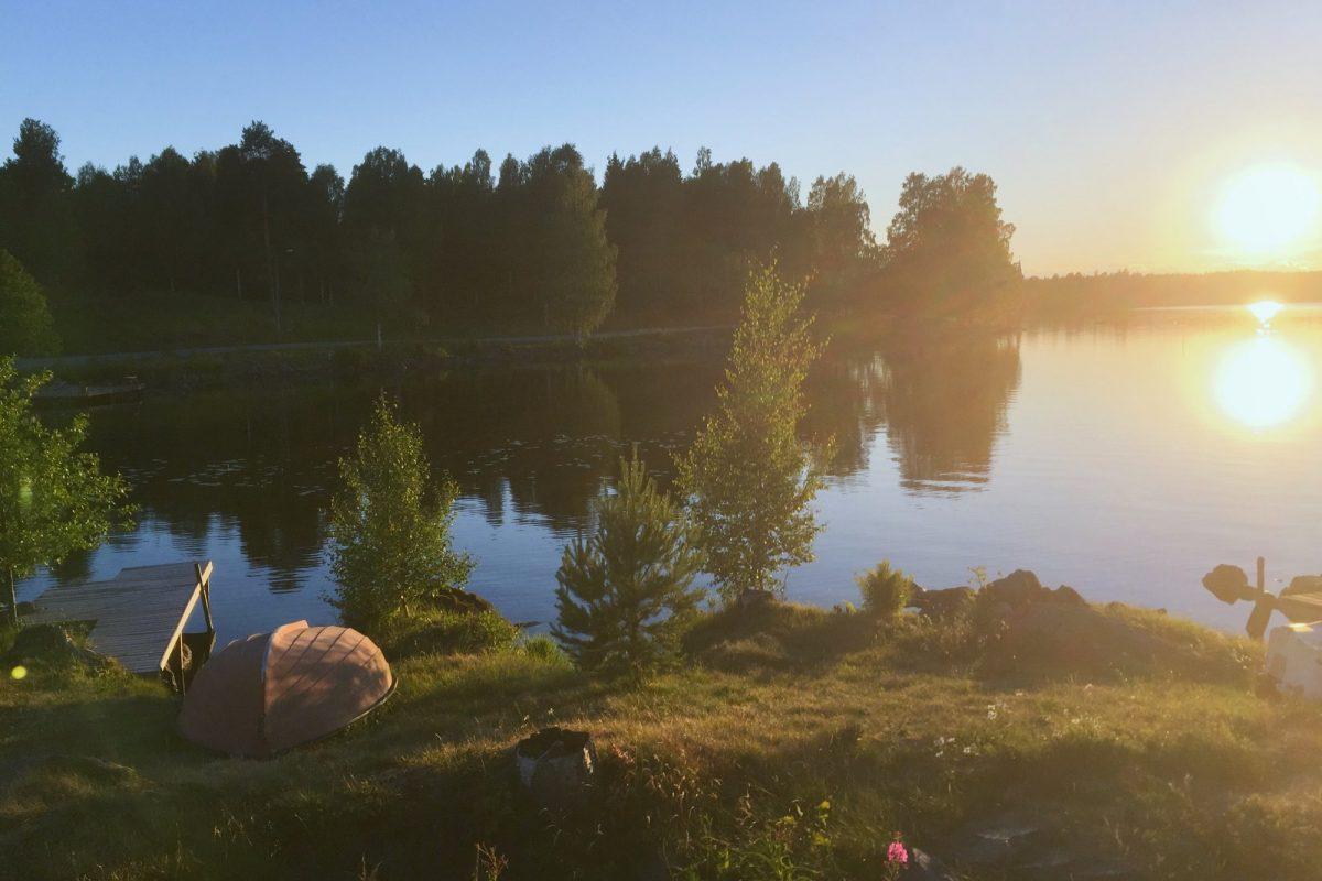 Puesta de sol en Stjärnsund, Dalarna <br> Foto: Israel Úbeda / sweetsweden.com