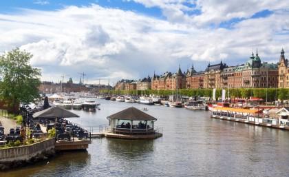Strandvägen, el paseo junto al mar en Estocolmo en mayo Foto: Israel Úbeda / sweetsweden.com