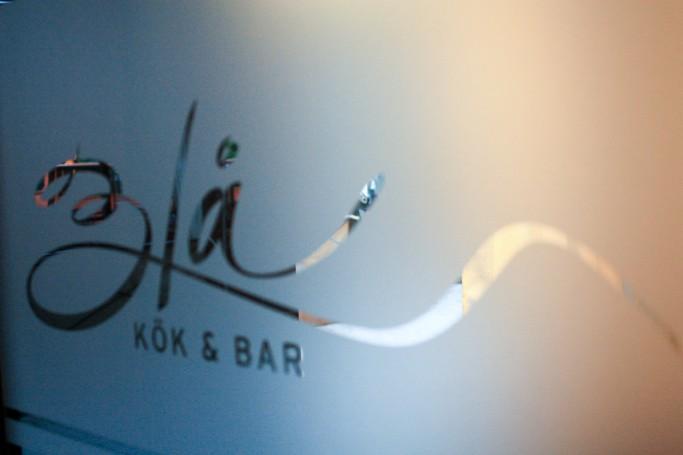 Logo del Blå Kök & Bar en Karlstad, foto: Israel Úbeda