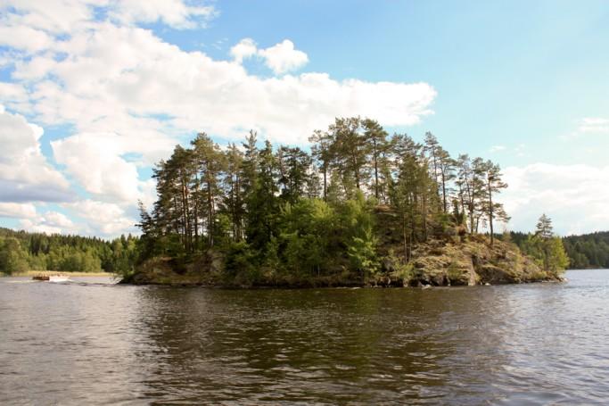 Paisajes del lago Bunn en Småland, Suecia - foto: Israel Úbeda